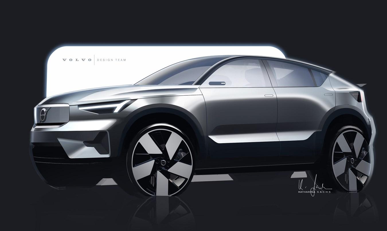 A história do design do Volvo C40 Recharge